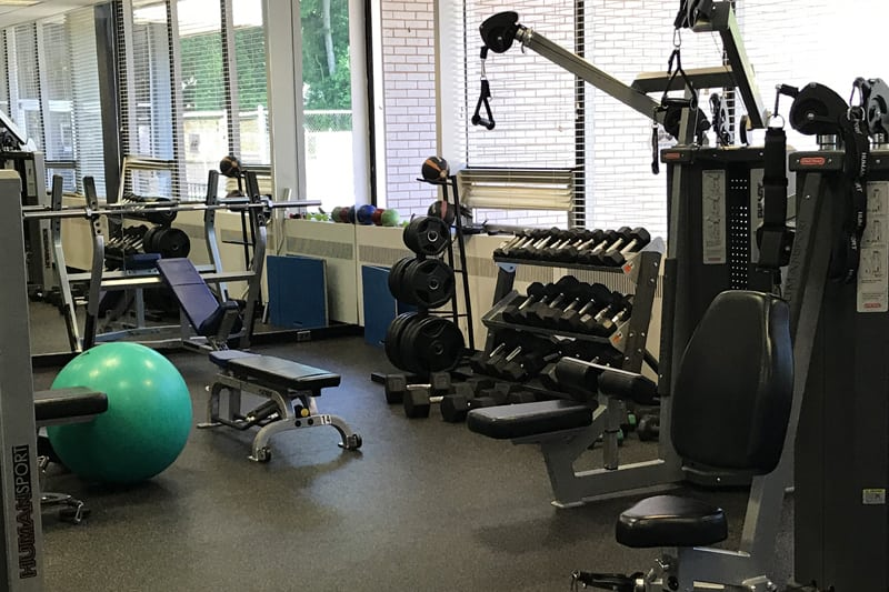 Weight gym offers equipment for wide variety of workouts