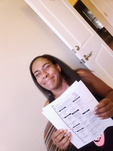 FT Paticipant Tierra Yates happily learning more about voting in the midterms