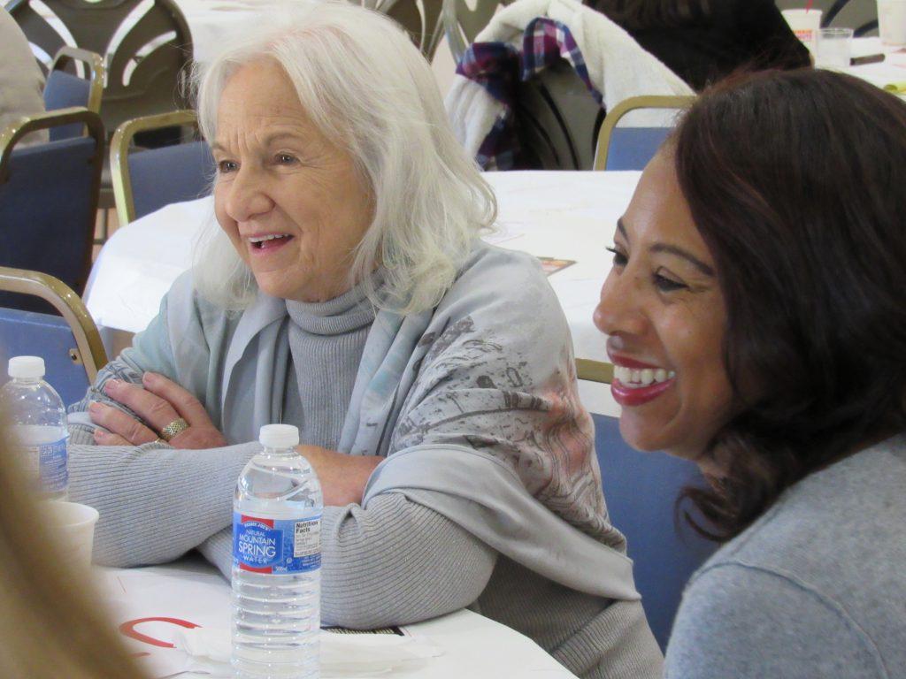 Participants smiling