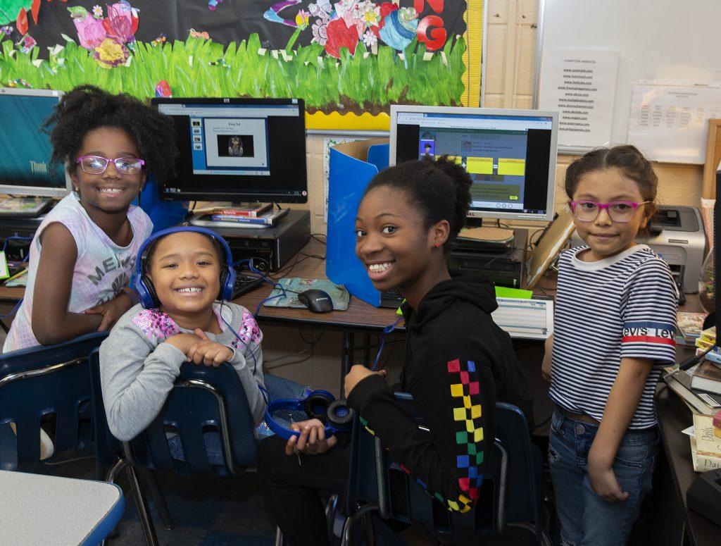 Park Road Students at Computers