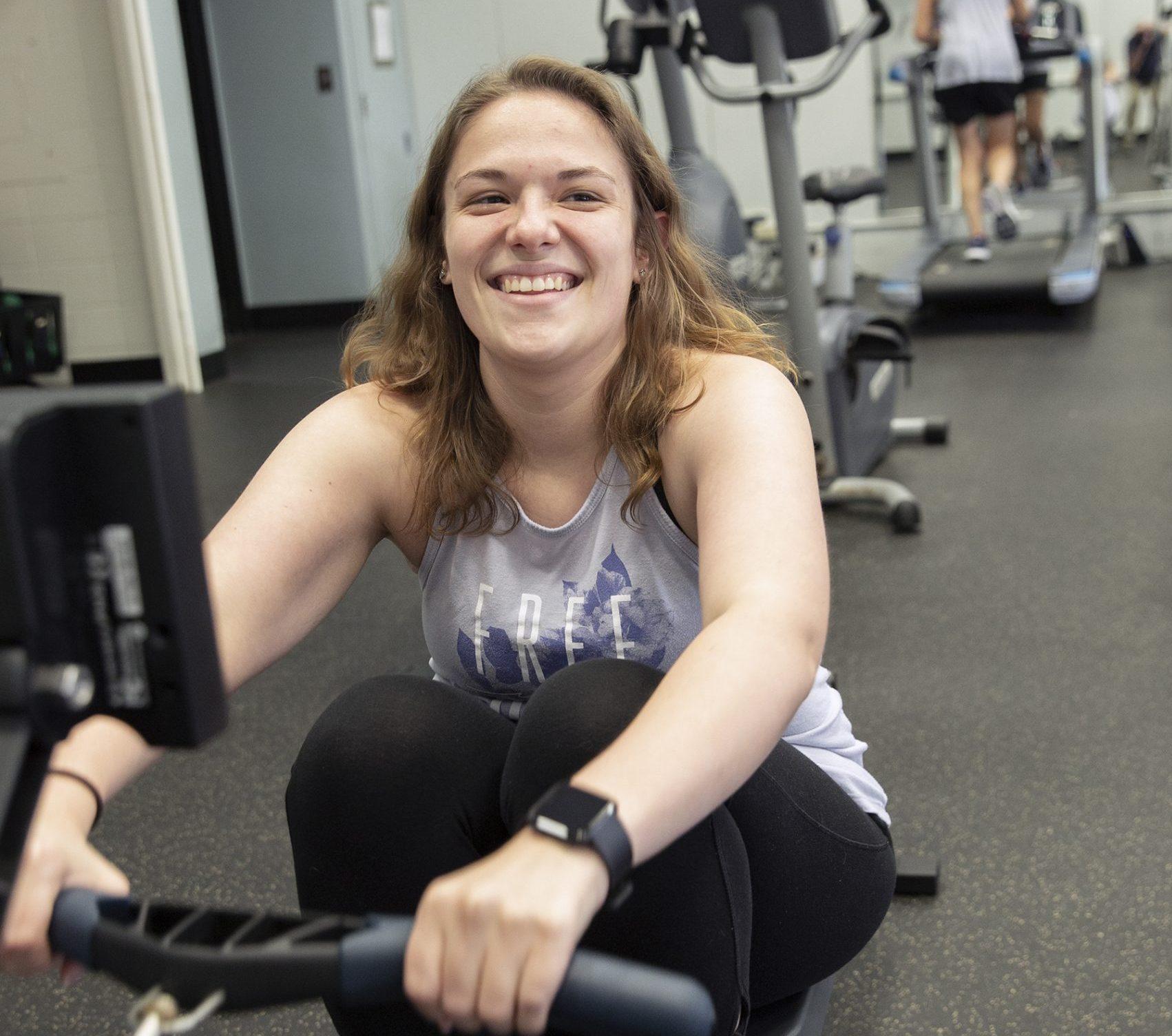 row machine, rowing, cardio, cardio gym, ywca co-ed gym