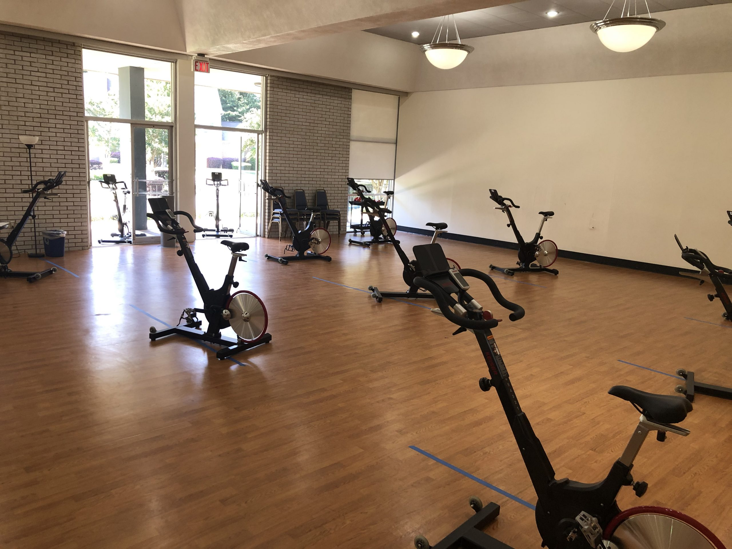 COVID19, social distancing, fitness center, YWCA, gym, co-ed gym, workout, cycle class